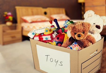 giving toys to charity