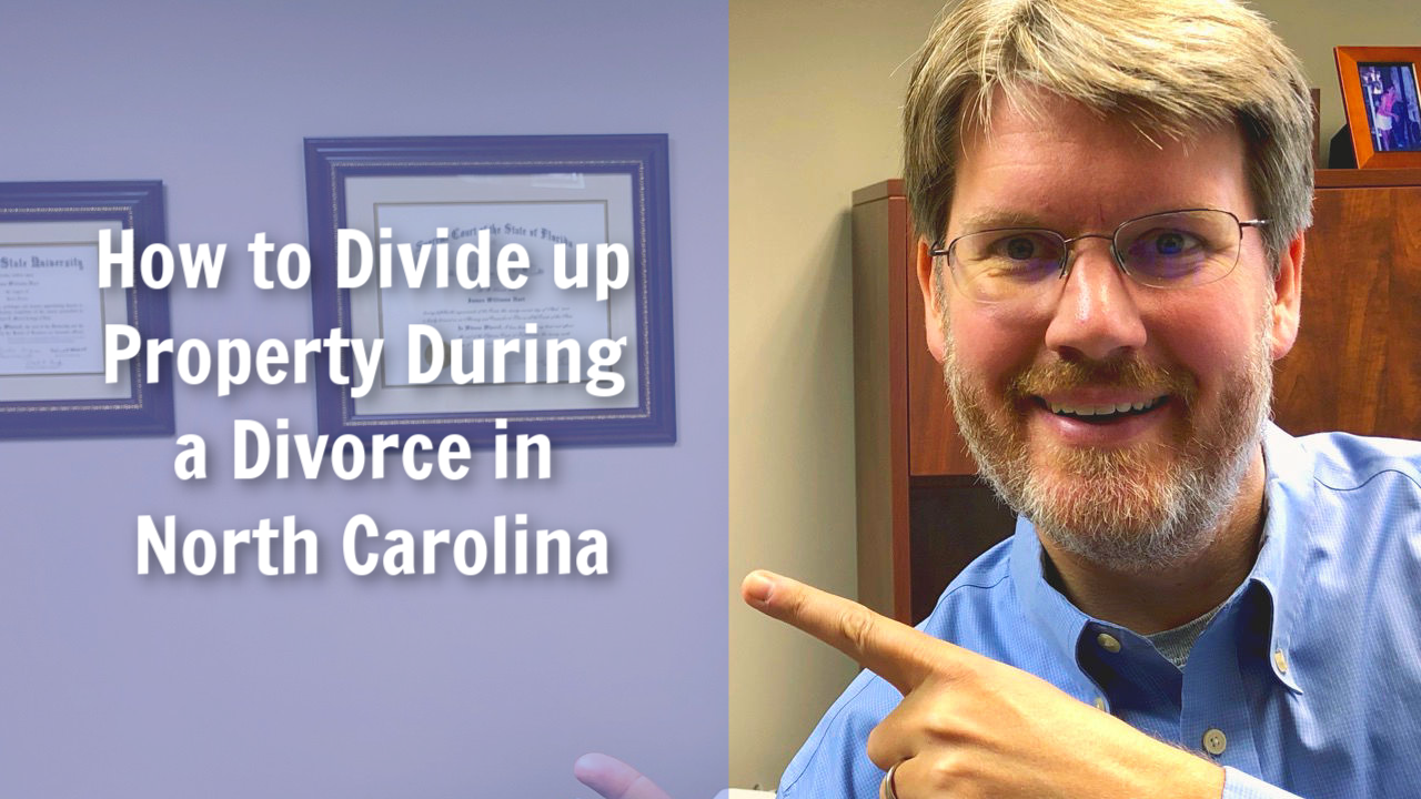 how to divide property during a divorce in north carolina